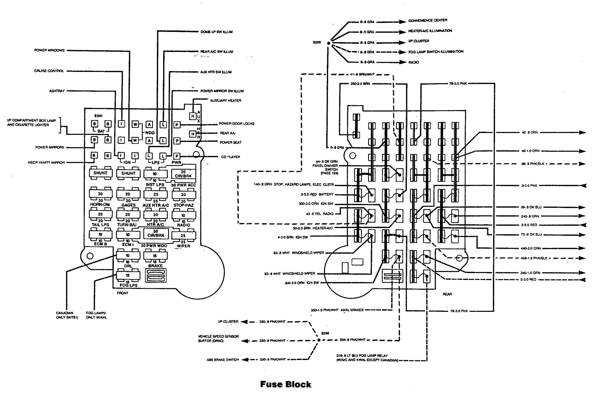 hight resolution of 1985 chevy c10 fuse box diagram