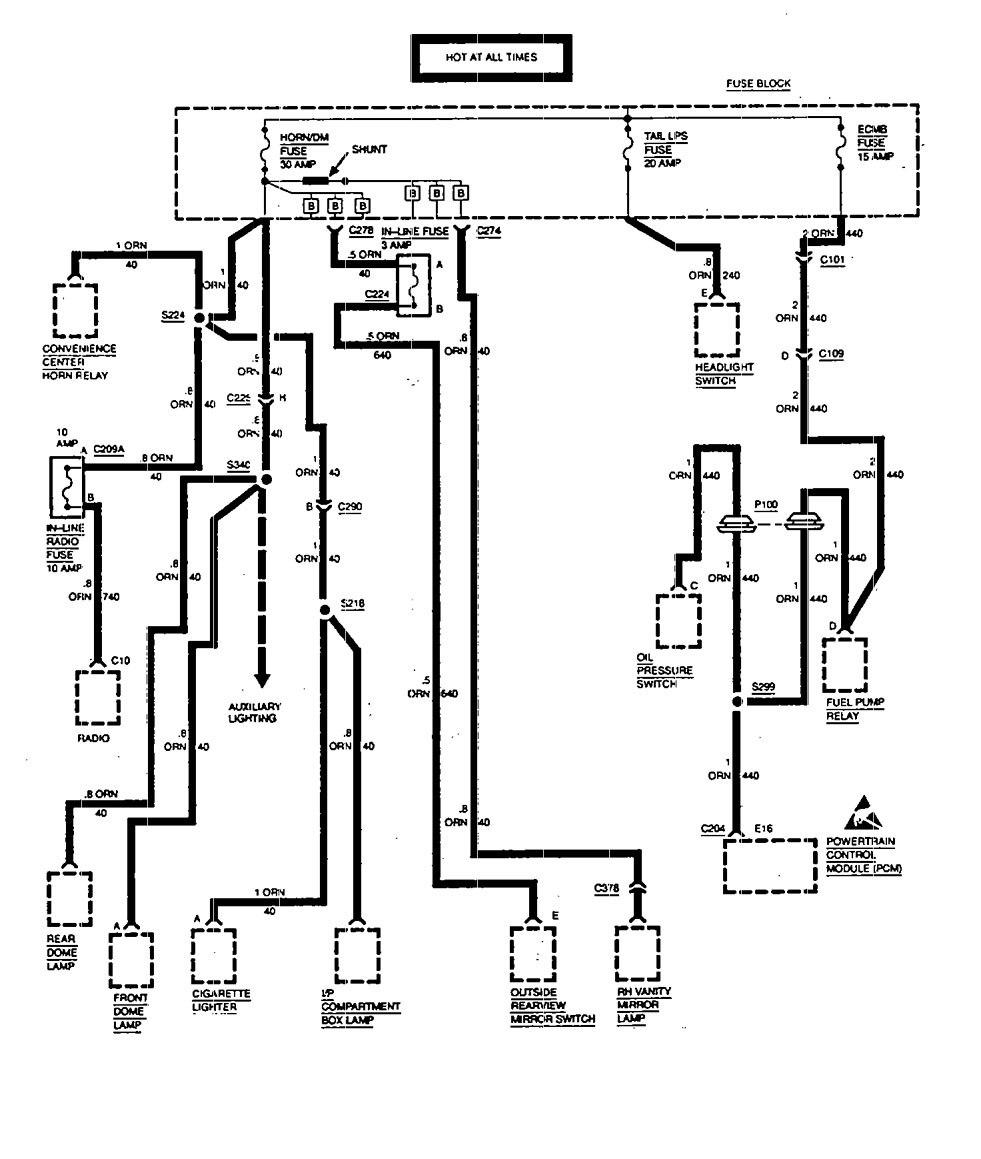 2000 astro fuse diagram