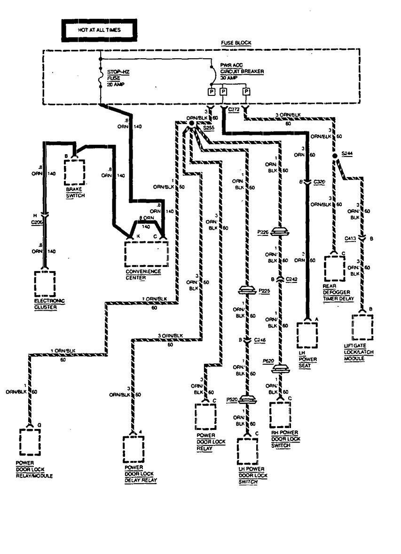 1994 chevy astro fuse box