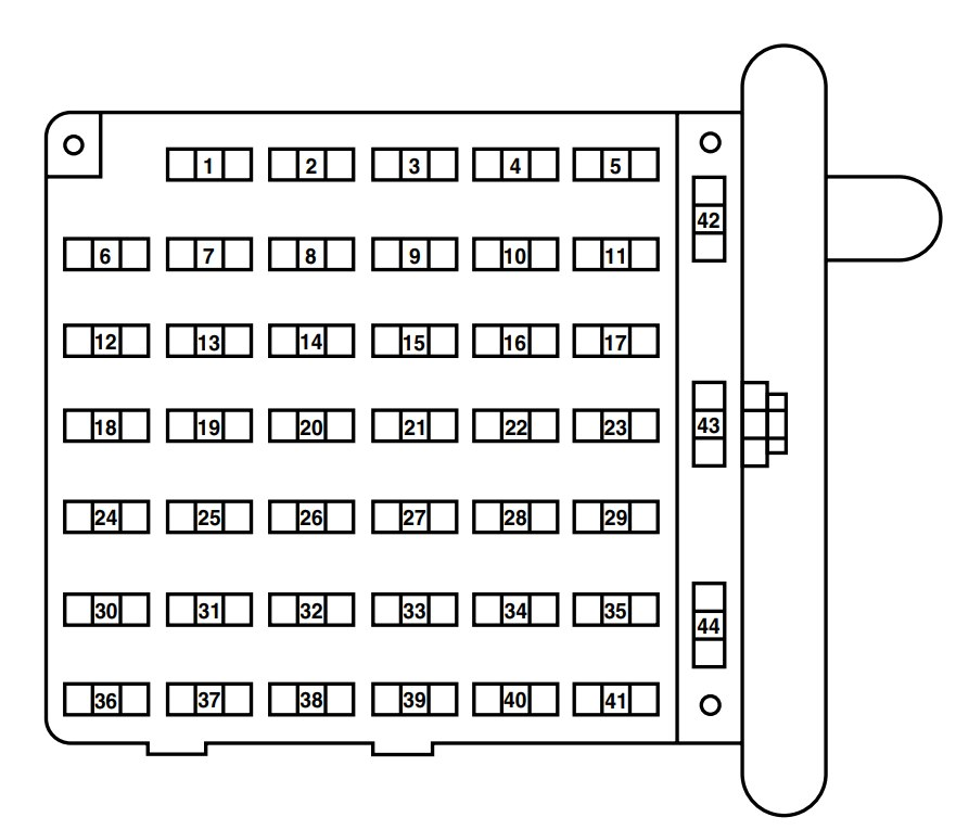 2004 ford e250 fuse diagram of house wiring econoline schematic panel today mazda tribute