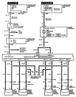 Acura CL (1997)  wiring diagrams  brake controls  CARKNOWLEDGE