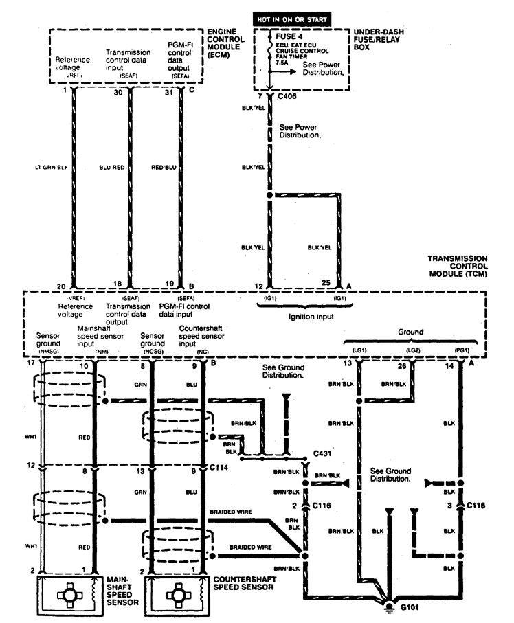 acura cl fuse diagram