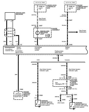 Acura NSX (2005)  wiring diagrams  securityantitheft  CARKNOWLEDGE