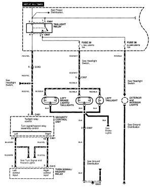 Acura NSX (1997  2004)  wiring diagrams  securityanti