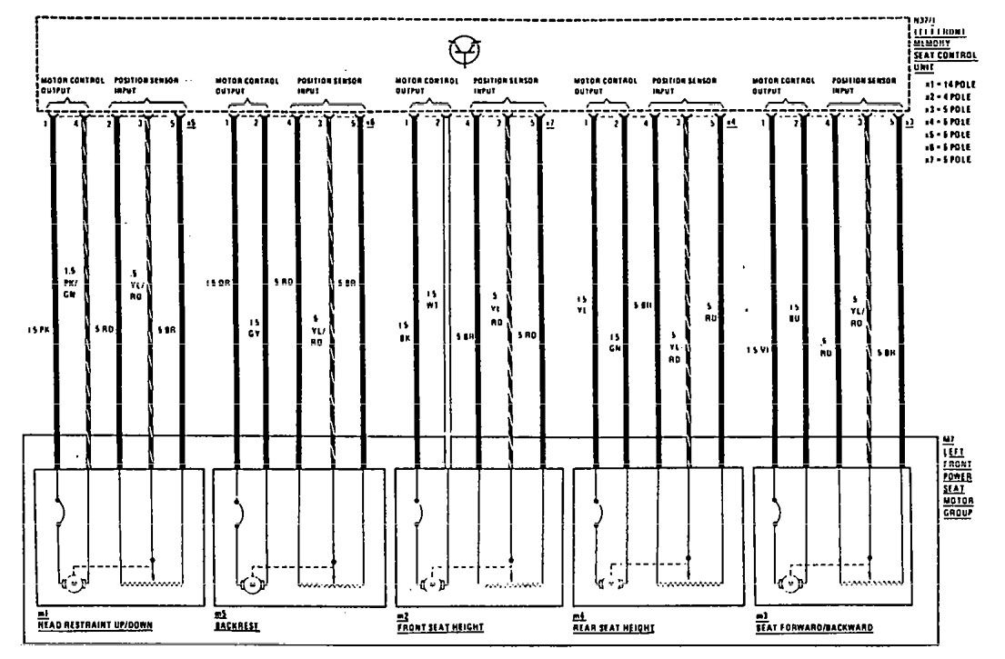 hight resolution of mercedes 190e wiring diagram power seat part 2
