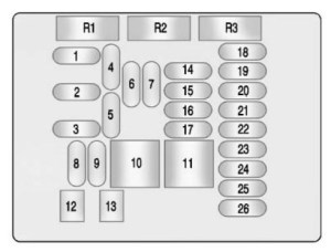 Buick LaCrosse (2010) – fuse box diagram  CARKNOWLEDGE