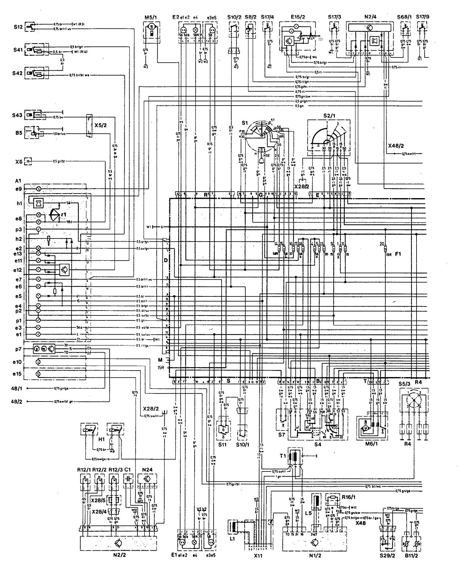 mercedes wiring diagram 2007 dodge caliber sxt radio 190e 1992 diagrams charging system