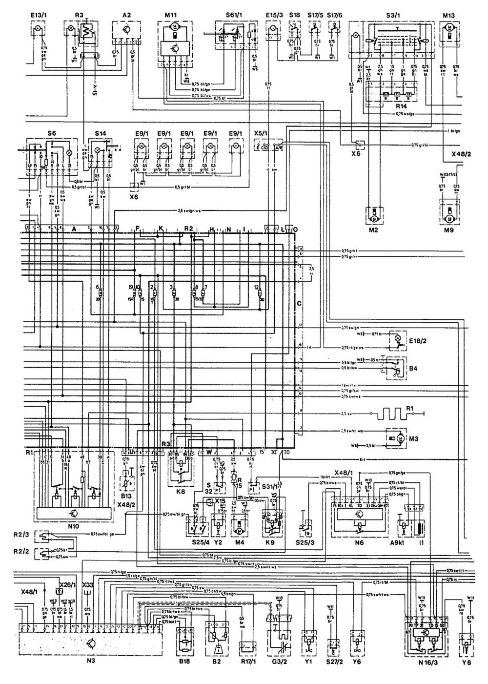 medium resolution of mercedes 190e 1992 wiring diagrams cooling fans carknowledge 1985 corvette schematic 1992 corvette cooling