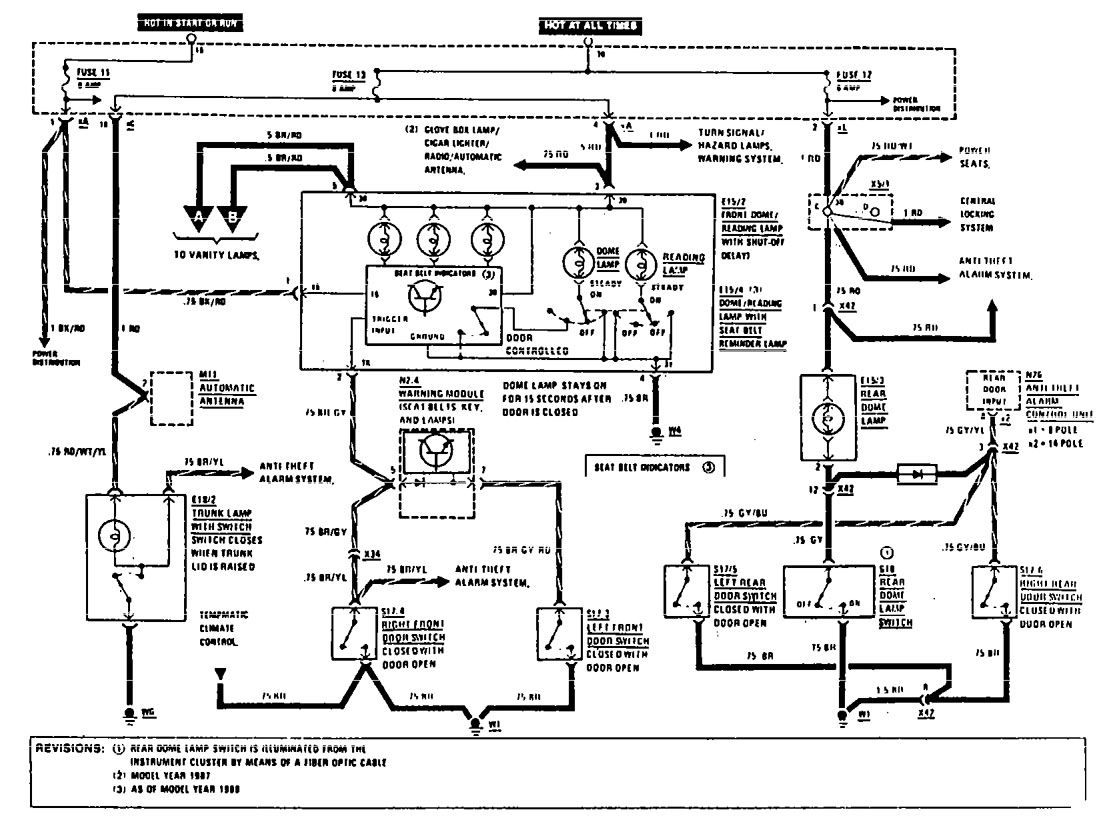 Mercedes benz 190e 1990 1991 wiring diagrams courtesy l s