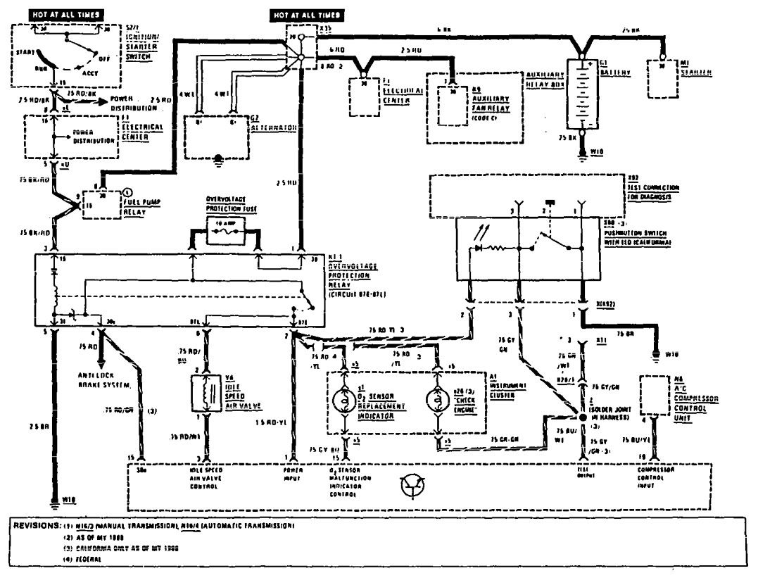 Benz 1990 500sl Mercedes Electrical Diagram ~ Wiring