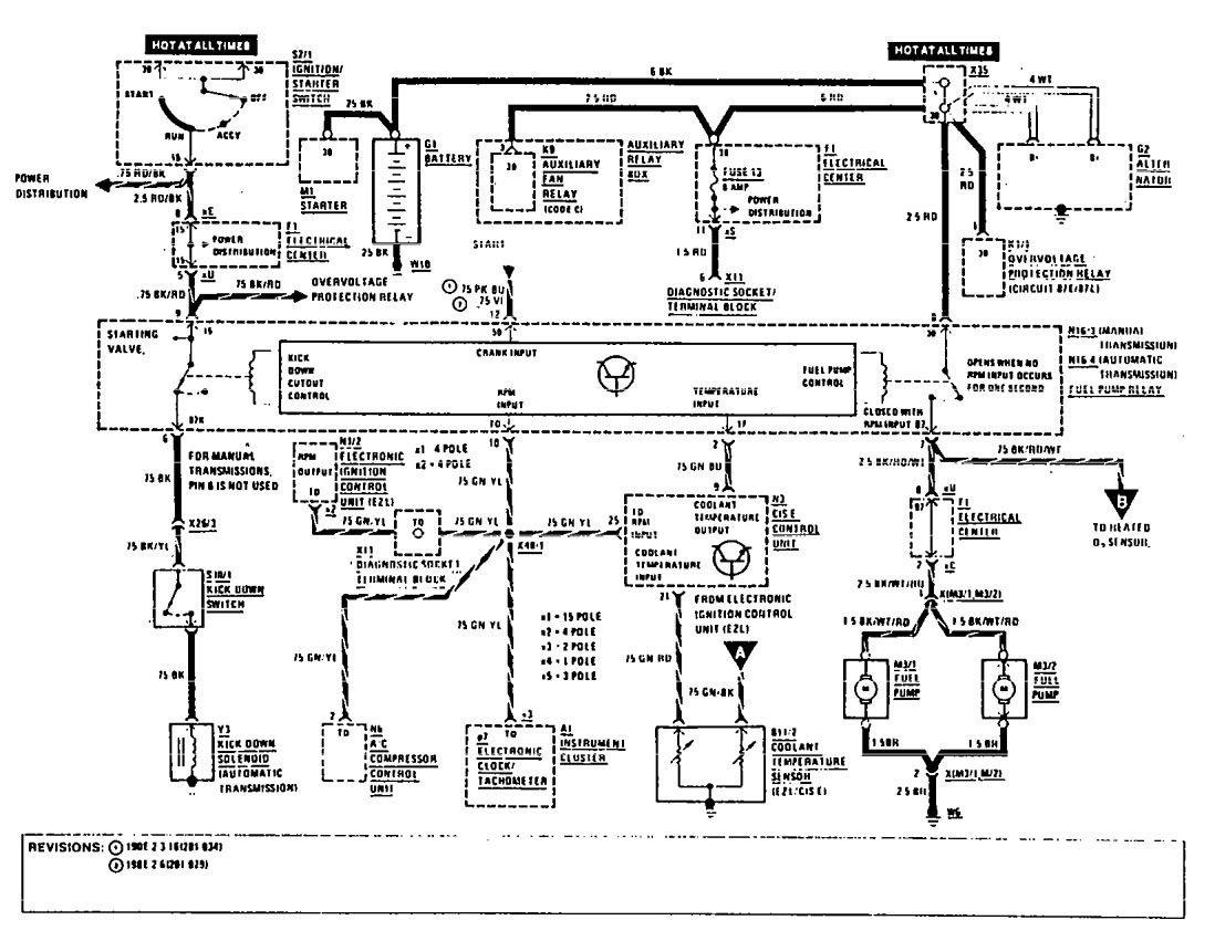 mercedes wiring diagram honda generator eu2000i parts benz 190e 1990 diagrams fuel