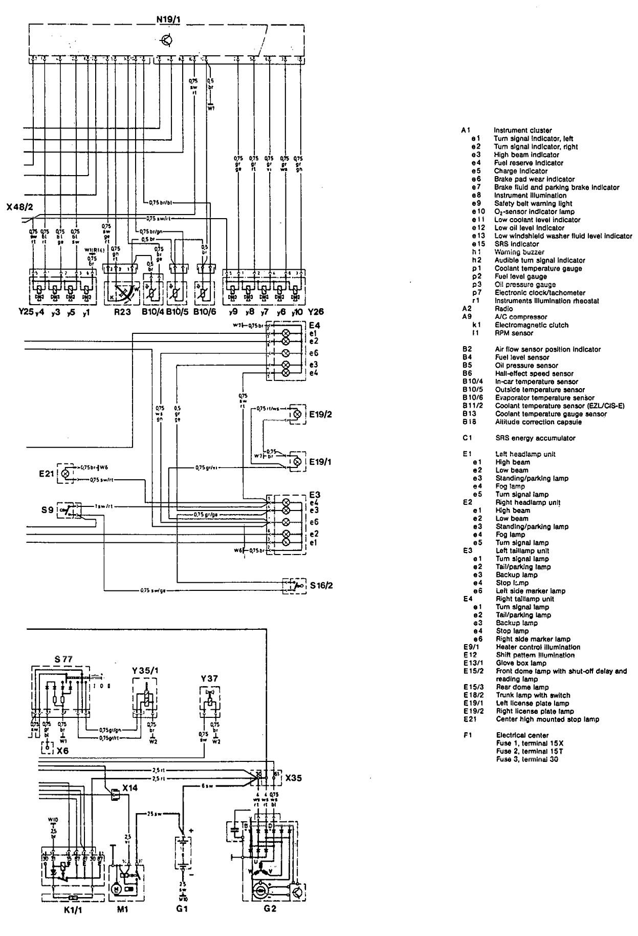 1992 mercedes 500sl wiring diagram bmw e46 amplifier benz 190e diagrams starting carknowledge