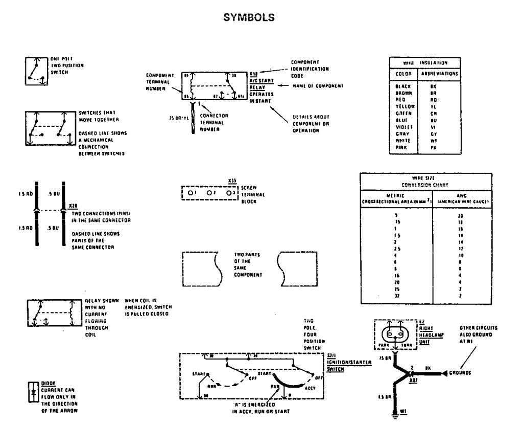 mercedes wiring diagram symbols rocker switch benz 190e 1990 1991 diagrams