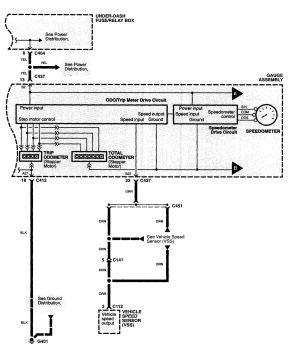 Acura MDX (2001)  wiring diagrams  instrumentation  CARKNOWLEDGE
