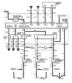 Acura MDX (2001)  wiring diagrams  power locks  CARKNOWLEDGE