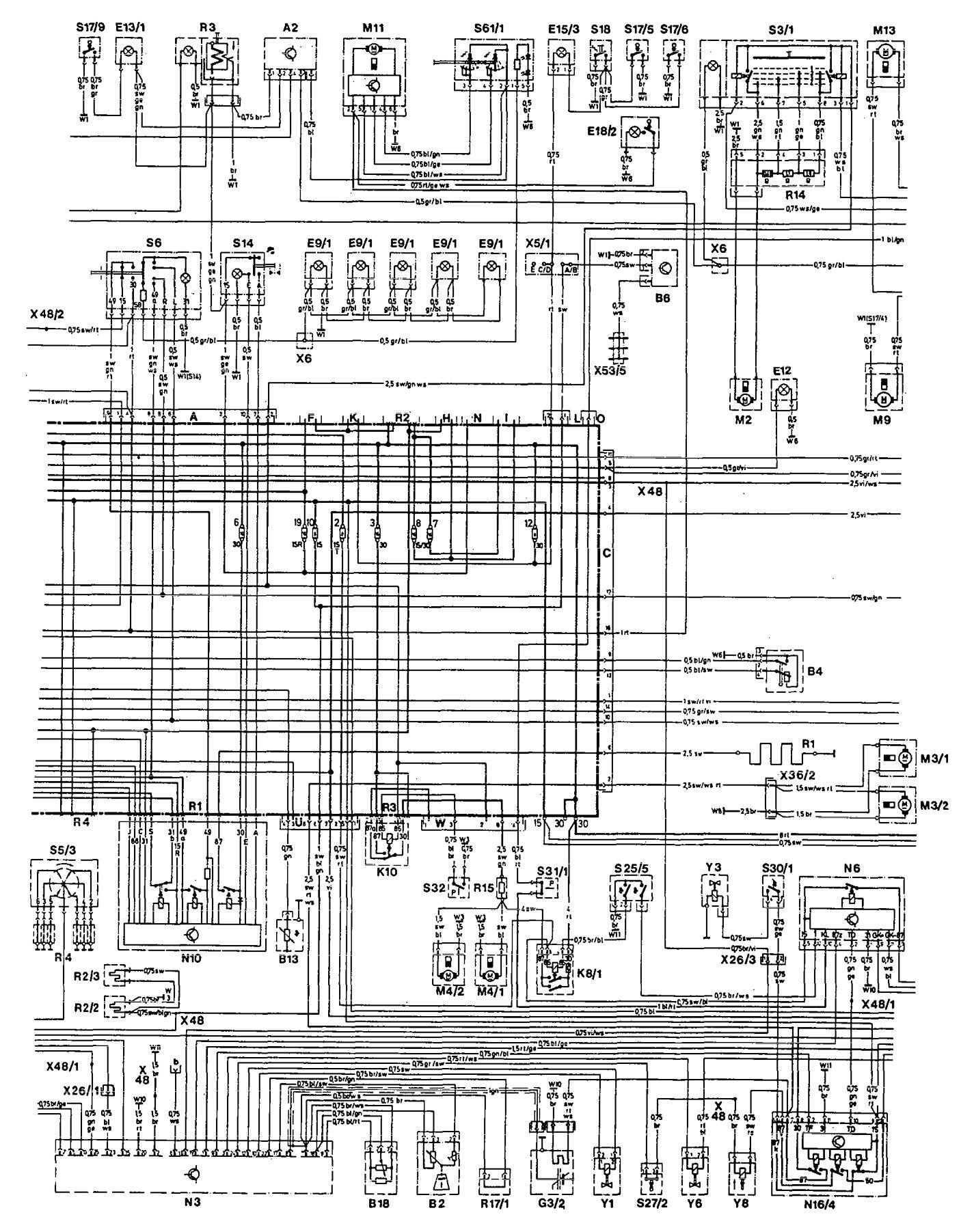 hight resolution of mercedes 190e workshop manual download mercedes benz 300e 1990 1991 wiring diagrams power distribution carknowledge 1986