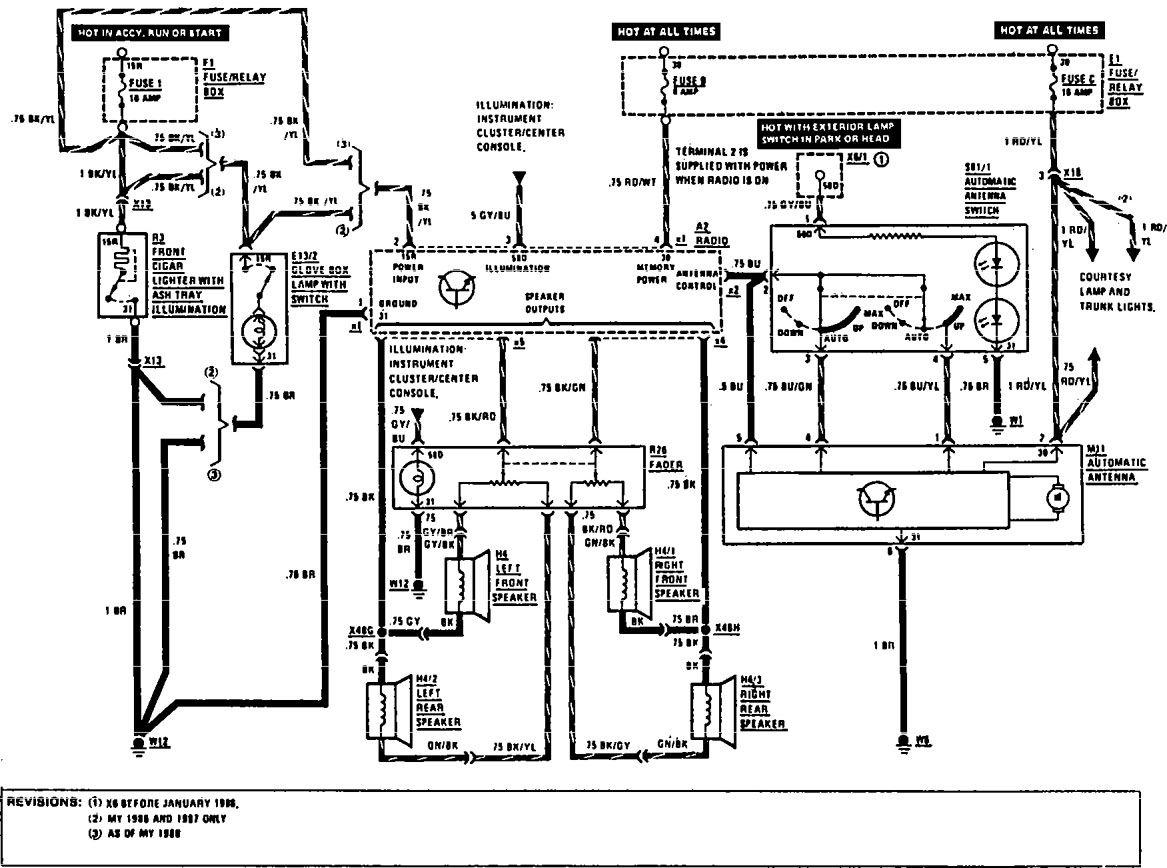 wiring diagram for mercedes benz