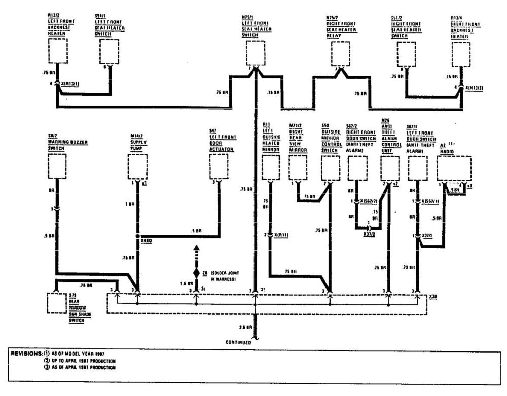 medium resolution of mercedes benz 300e 1990 1991 wiring diagrams ground distribution carknowledge 1989 mercedes benz 300e wiring diagram
