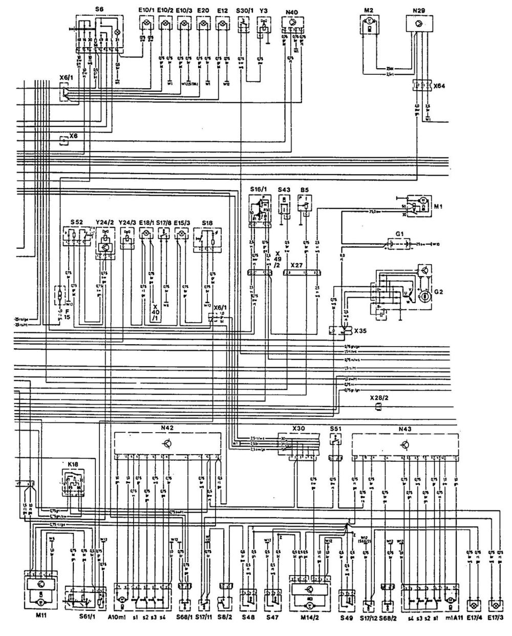 medium resolution of mercedes benz 300ce 1992 1993 wiring diagrams hvac oil furnace wiring diagram thermostat wiring diagram