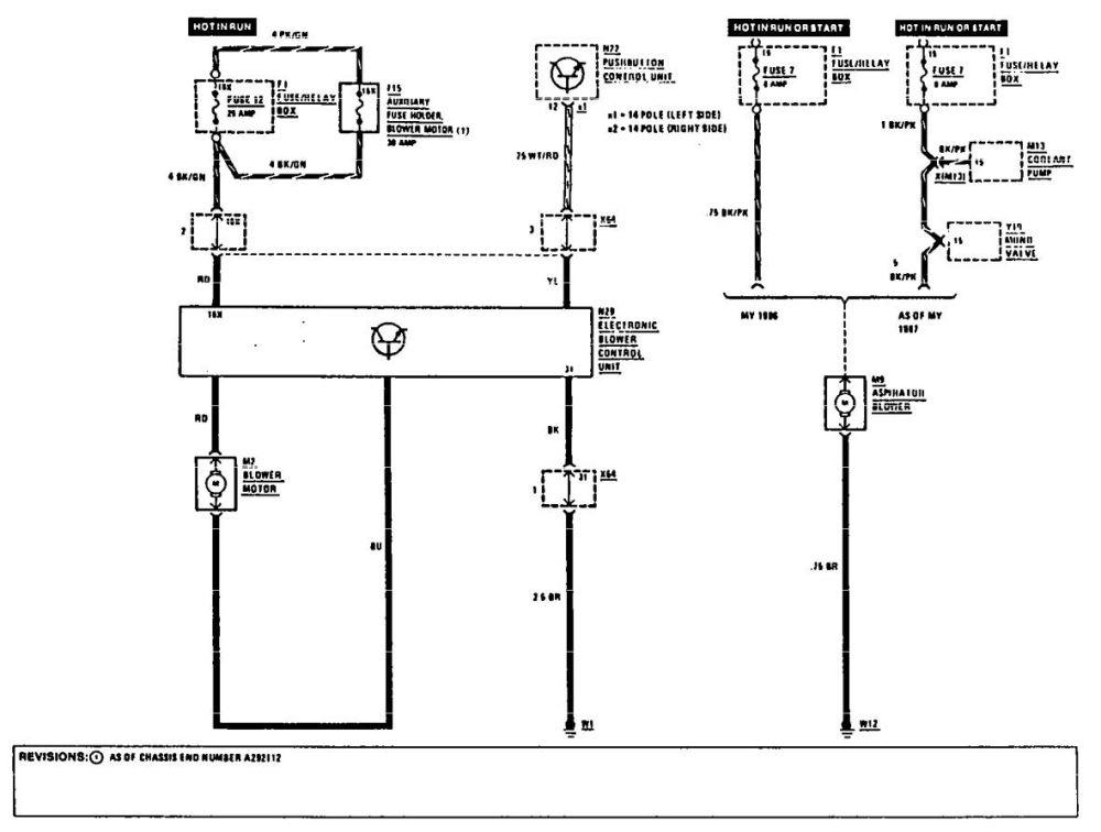 medium resolution of mercedes benz 300e 1990 1991 wiring diagrams hvac controls