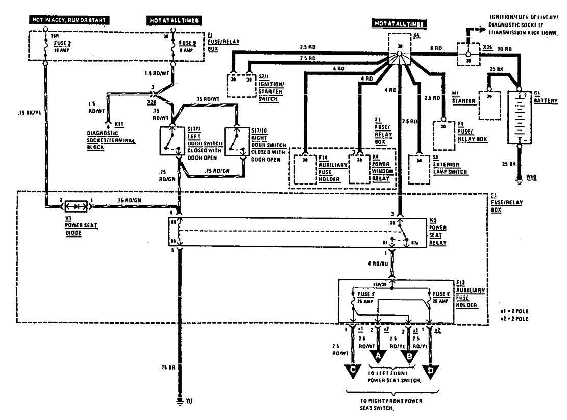 mercedes benz w124 wiring diagram 1978 honda ct70 library