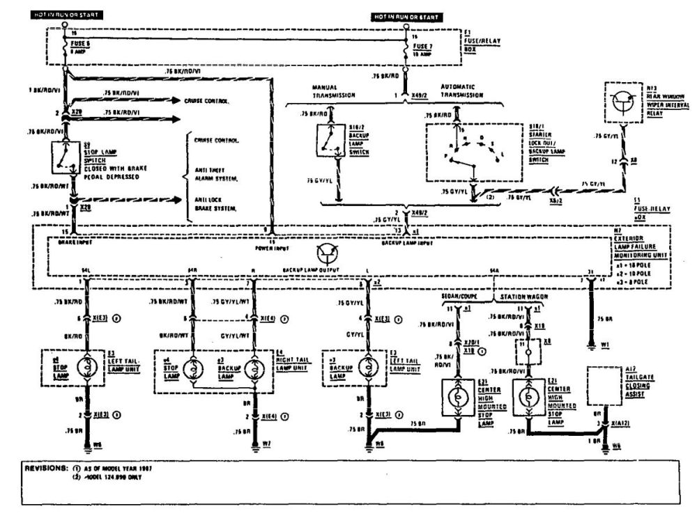medium resolution of mercedes benz 300e 1990 1991 wiring diagrams reverse lamps carknowledge mercedes w124 300e wiring diagram 1992
