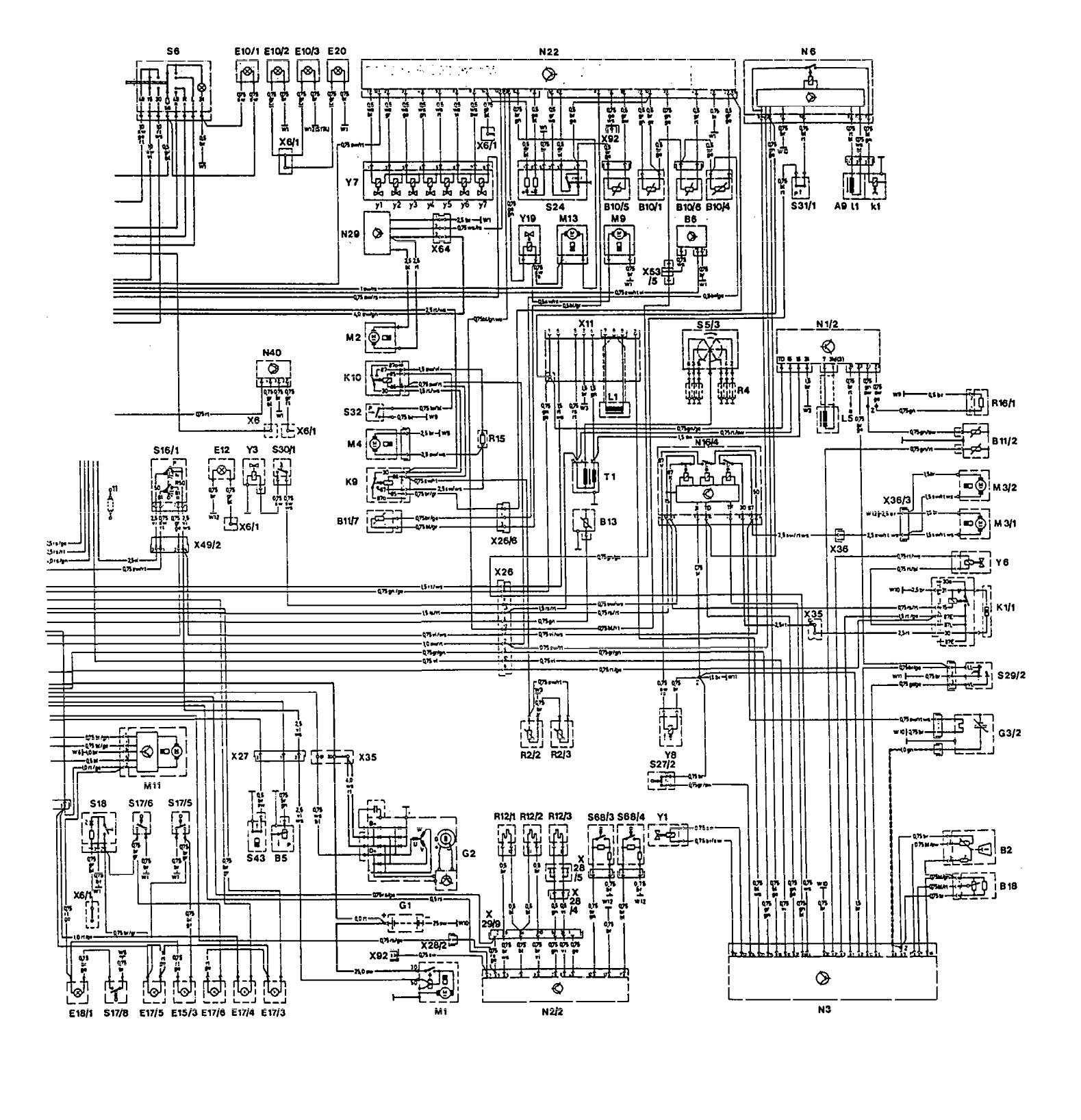 hight resolution of mercedes benz 300e 1992 1993 wiring diagrams hvac controls
