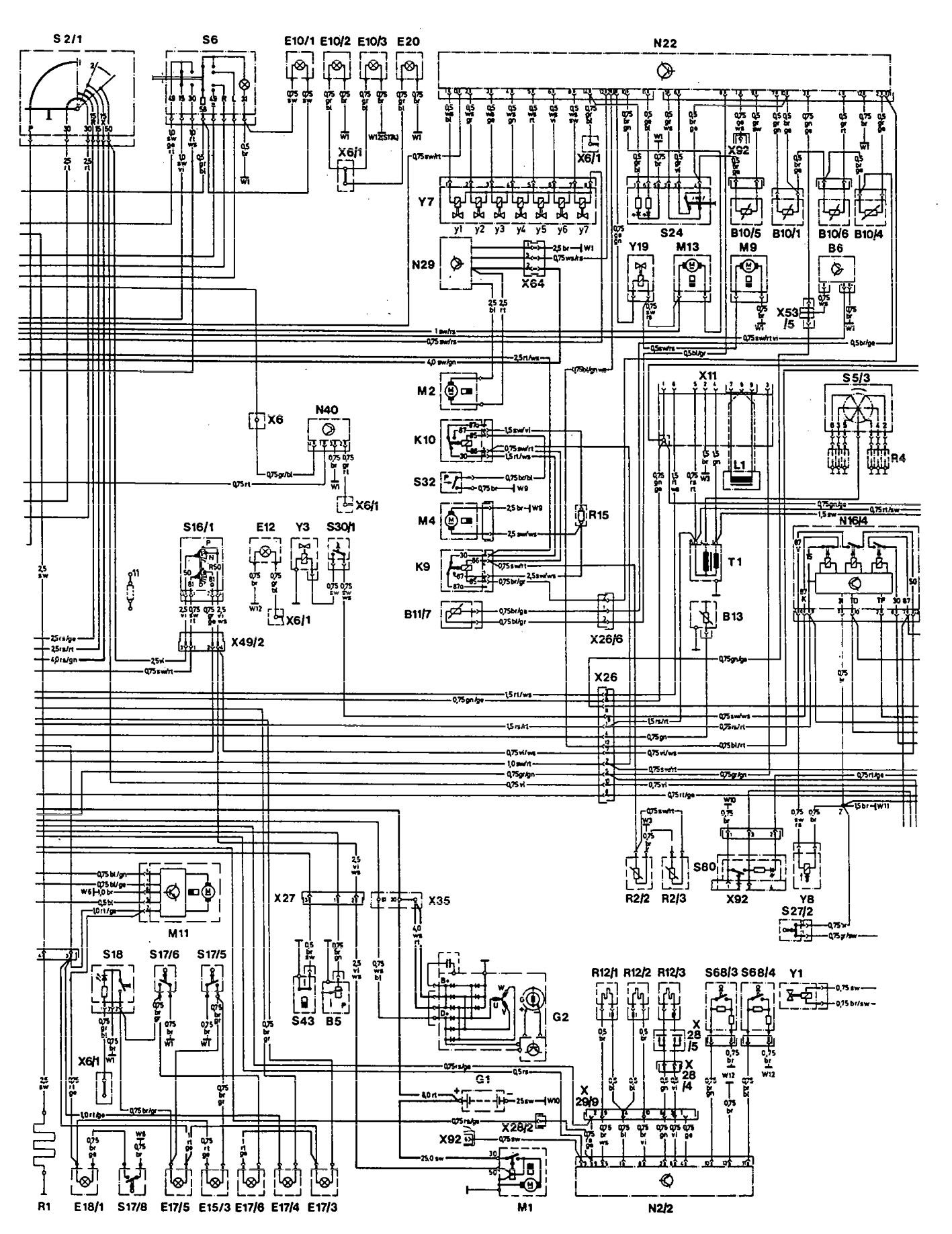 hight resolution of  mercedes benz 300e wiring diagram hvac controls part 2