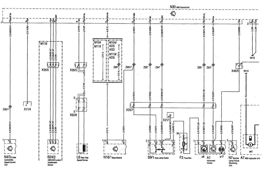 medium resolution of mercedes benz 300se wiring diagram abs part 1