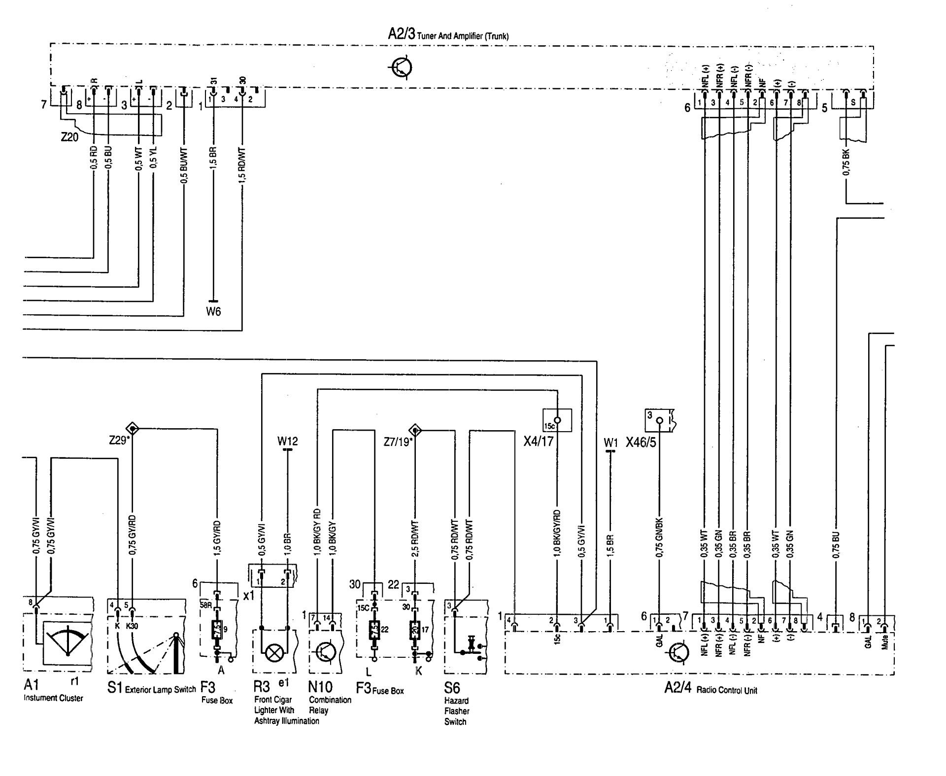 mercedes wiring diagram trailer connector 7 way benz 600sl 1993 diagrams audio