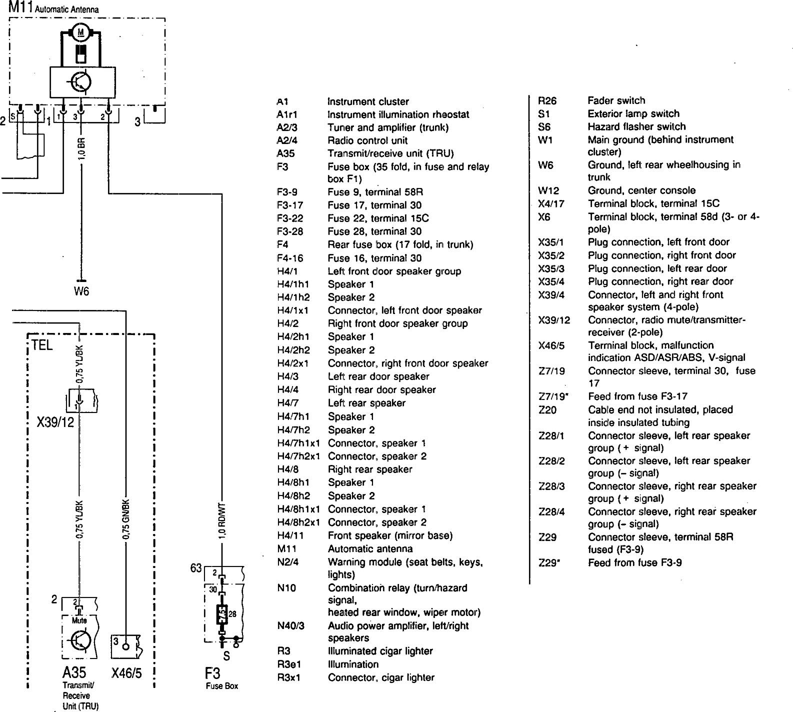 hight resolution of mercedes benz 300se wiring diagram audio part 3
