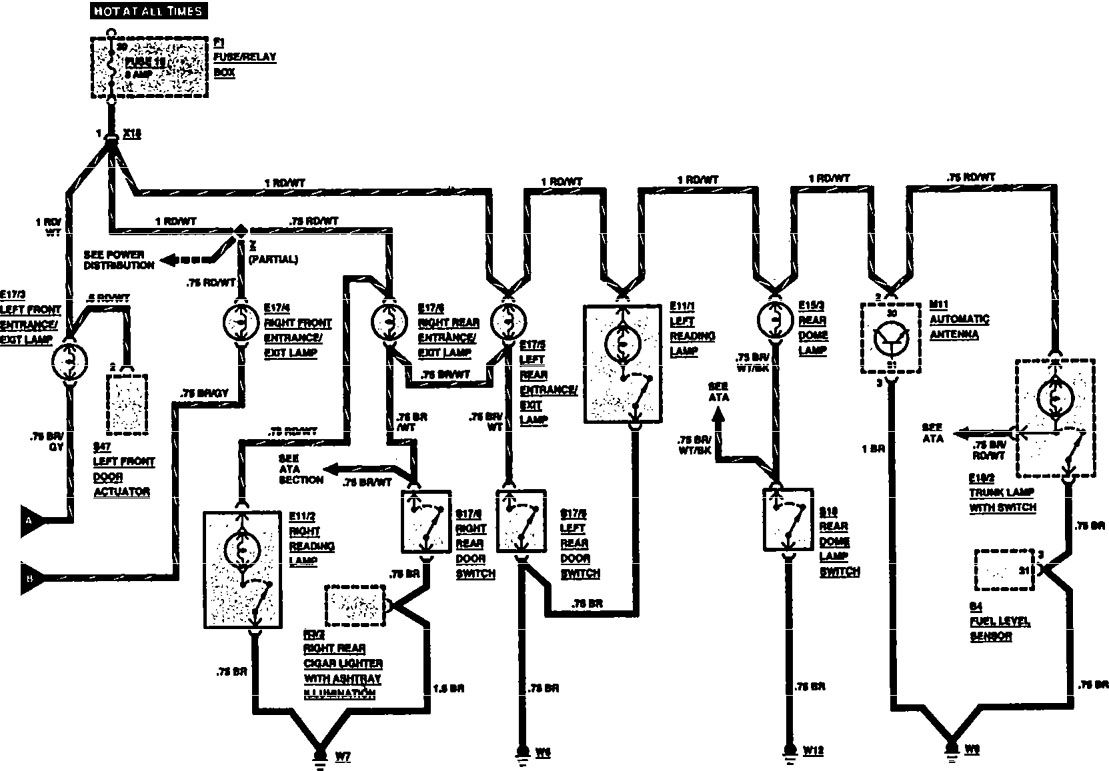 Mercedes benz 560sel 1991 wiring diagrams courtesy l s