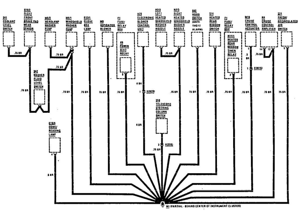 medium resolution of  mercedes benz 300se wiring diagram ground distribution part 2
