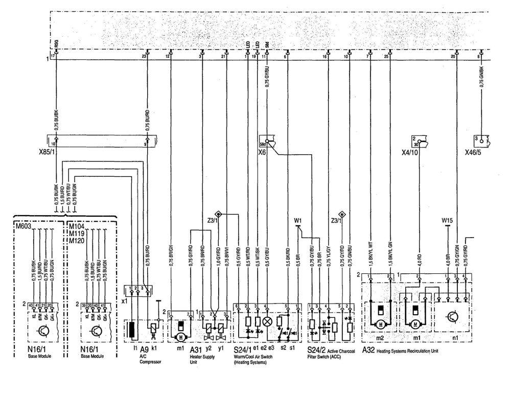 medium resolution of mercedes benz 300se wiring diagram hvac controls part 1
