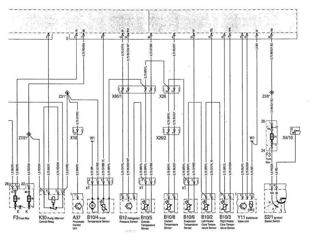 medium resolution of  mercedes benz 300se wiring diagram hvac controls part 3