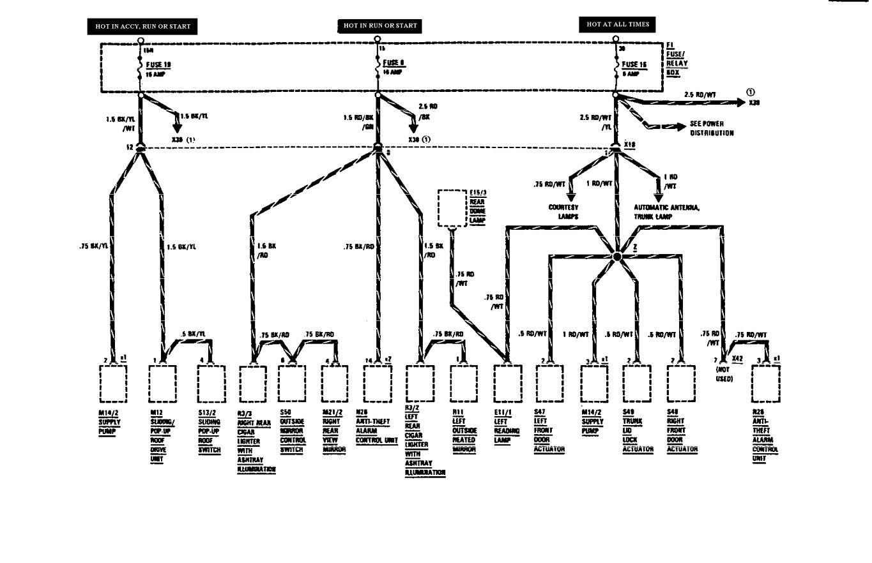 1990 mercedes 300 fuse box diagram