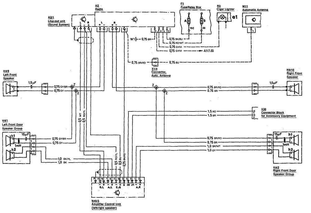 medium resolution of mercedes benz 300sl 1990 1993 wiring diagrams audio fiat 500 ignition switch wiring mercedes