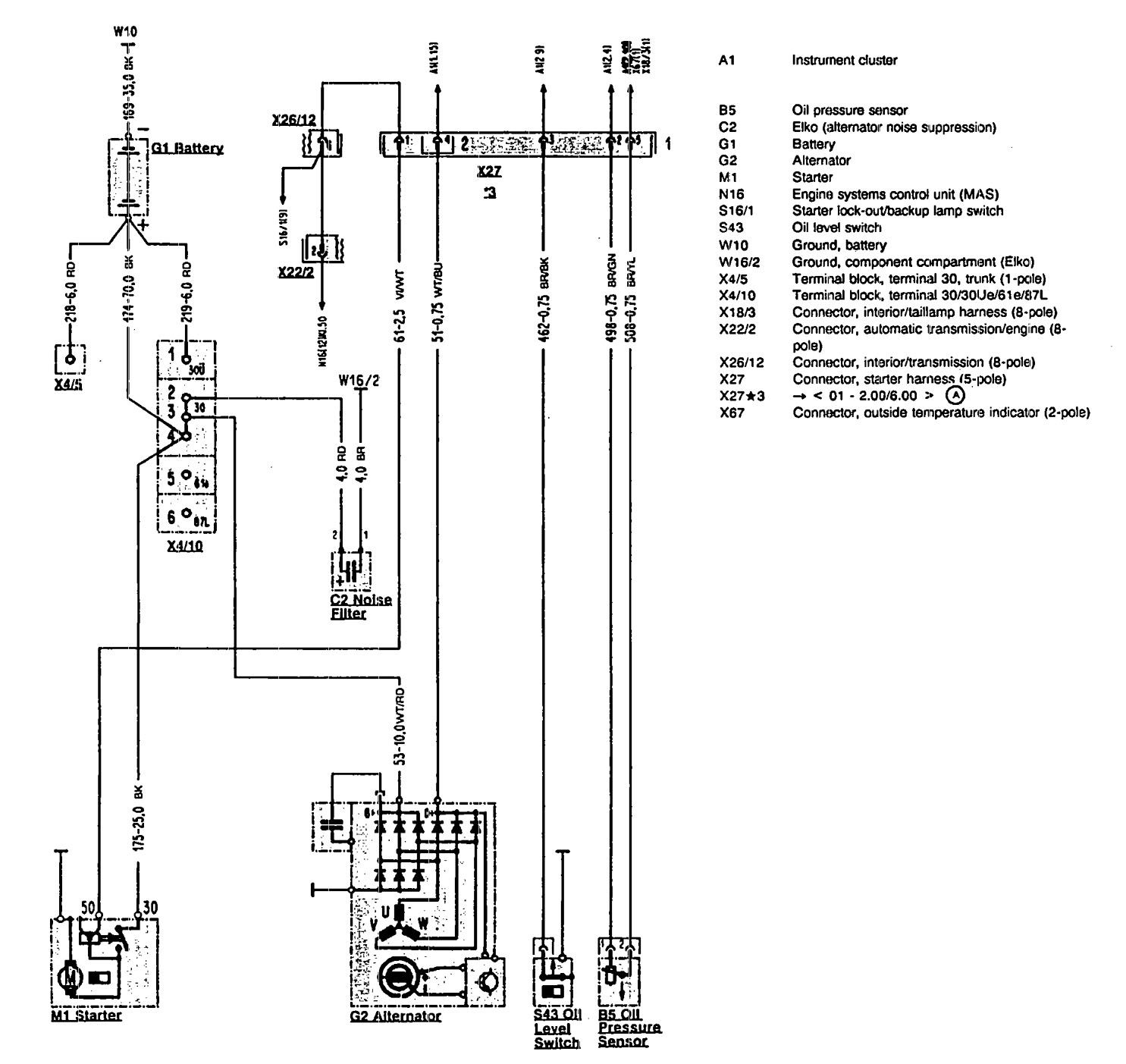 car charging system wiring diagram ford 8n tractor 6 volt mercedes benz 300sl 1990 1993 diagrams