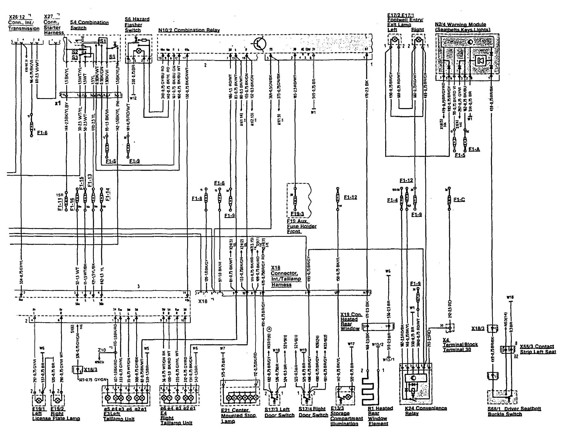 wiring diagram mercedes benz 300e