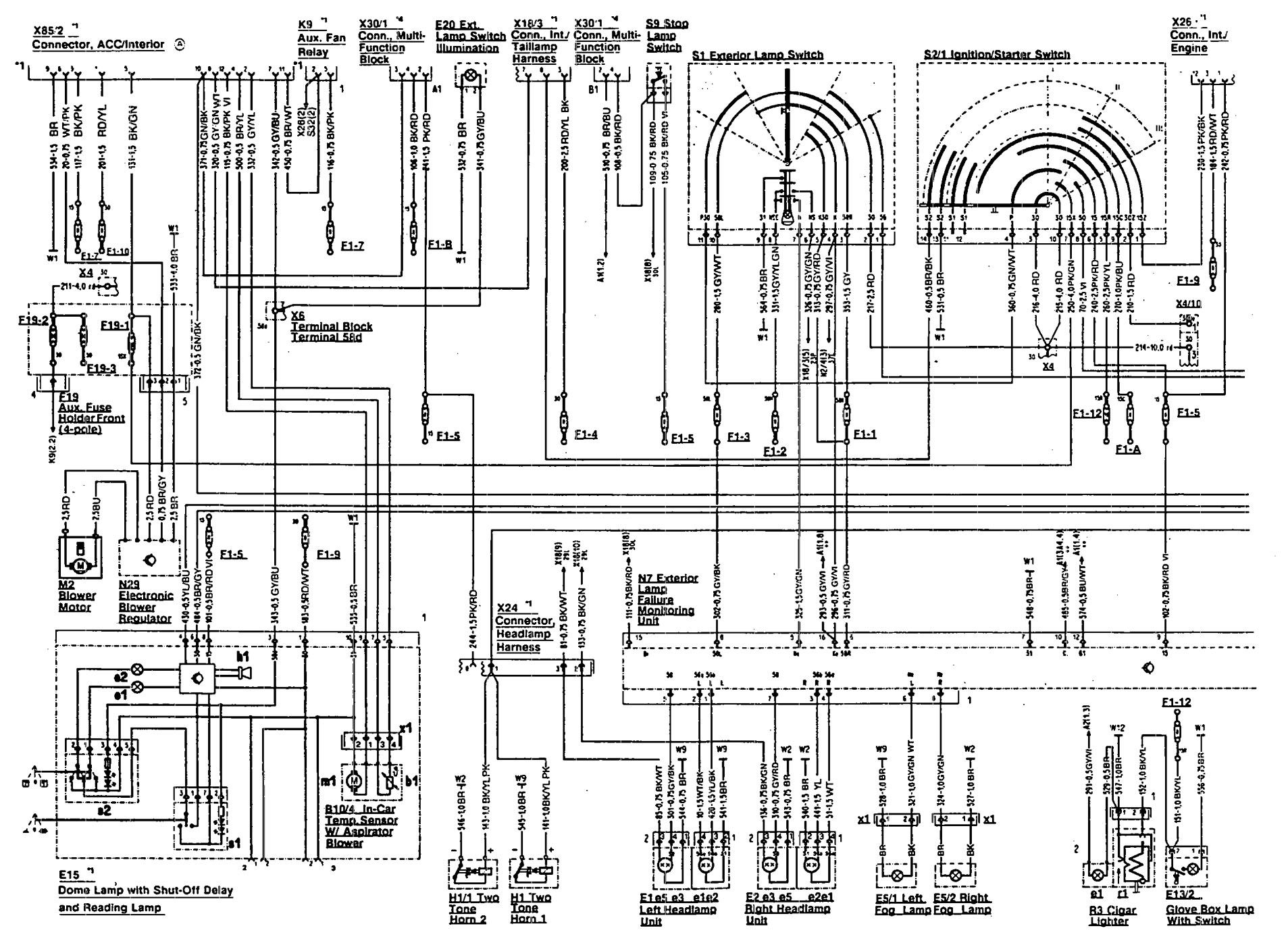 1995 mercedes sl500 wiring diagram gibson les paul 50 s benz 300sl 1990 1992 diagrams
