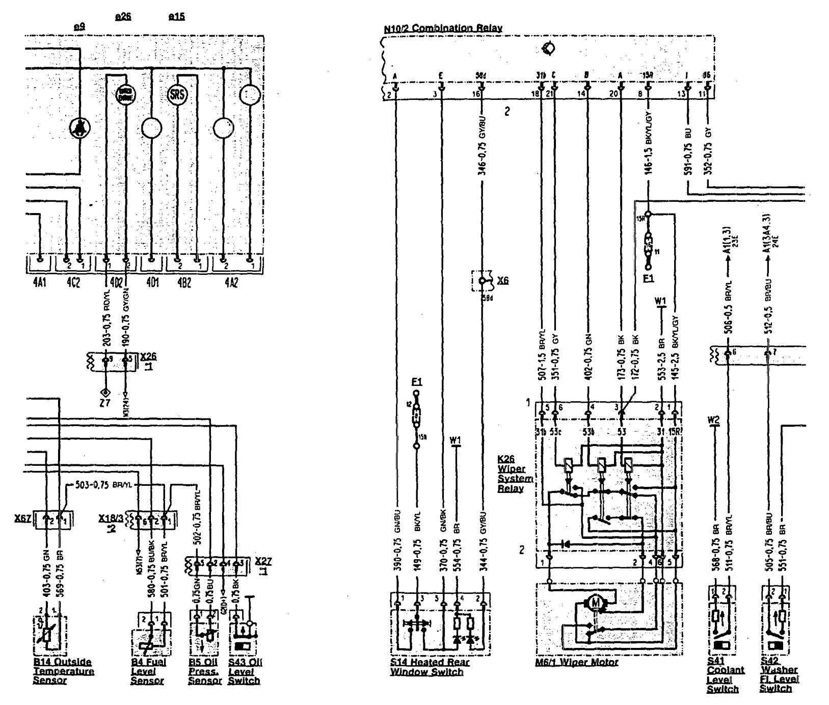 hight resolution of  mercedes benz 300sl wiring diagram wiper washer part 2