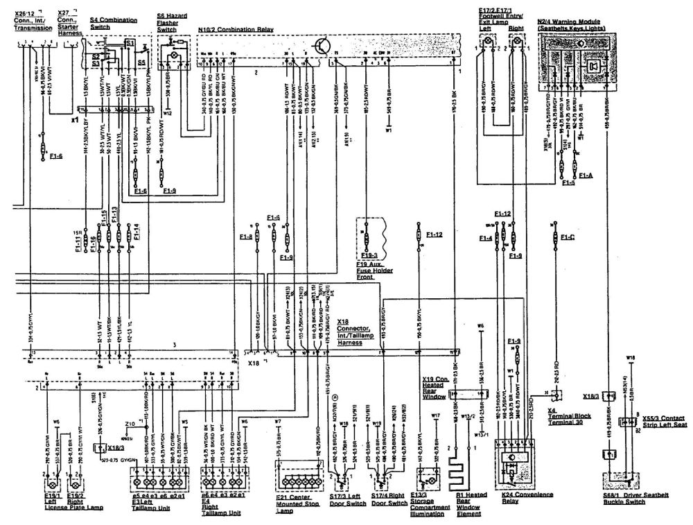 medium resolution of mercedes benz 500sl 1993 wiring diagrams interior 1993 corvette battery wiring diagram 1993 corvette ccm