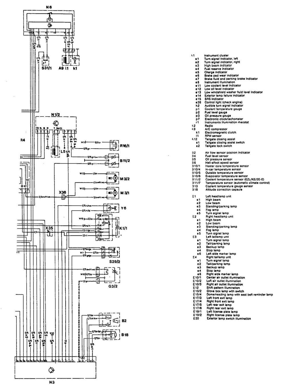 medium resolution of mercedes benz 300te 1992 1993 wiring diagrams exterior lighting