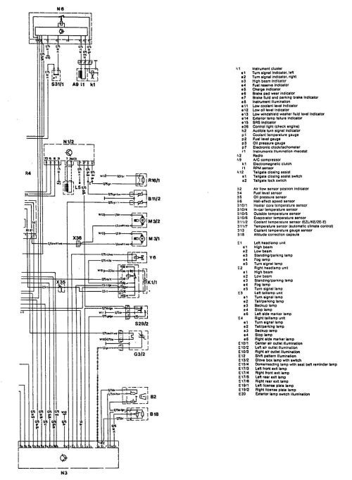 small resolution of mercedes benz 300te 1992 1993 wiring diagrams exterior lighting