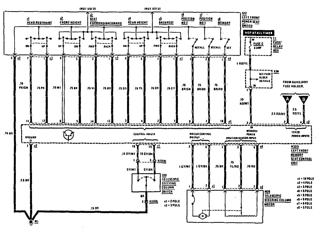 hight resolution of mercedes benz 300te 1990 1991 wiring diagrams power seat mercedes 300d mercedes