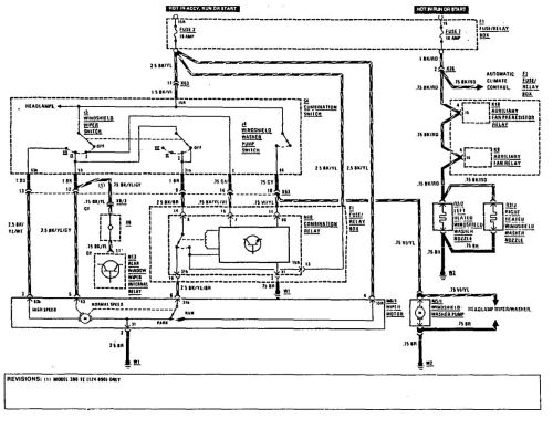 small resolution of 1987 mercedes benz 420sel sedan mercedes benz 300te 1990 1991 wiring diagrams wiper washer