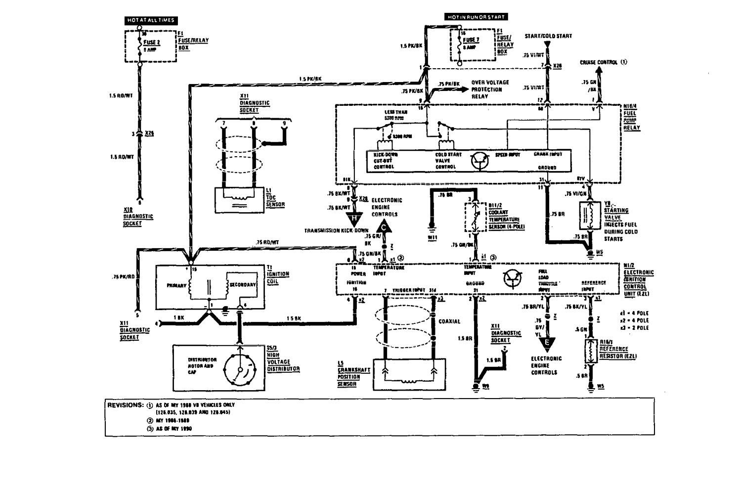hight resolution of mercedes benz 420sel wiring diagram fuel controls part 1