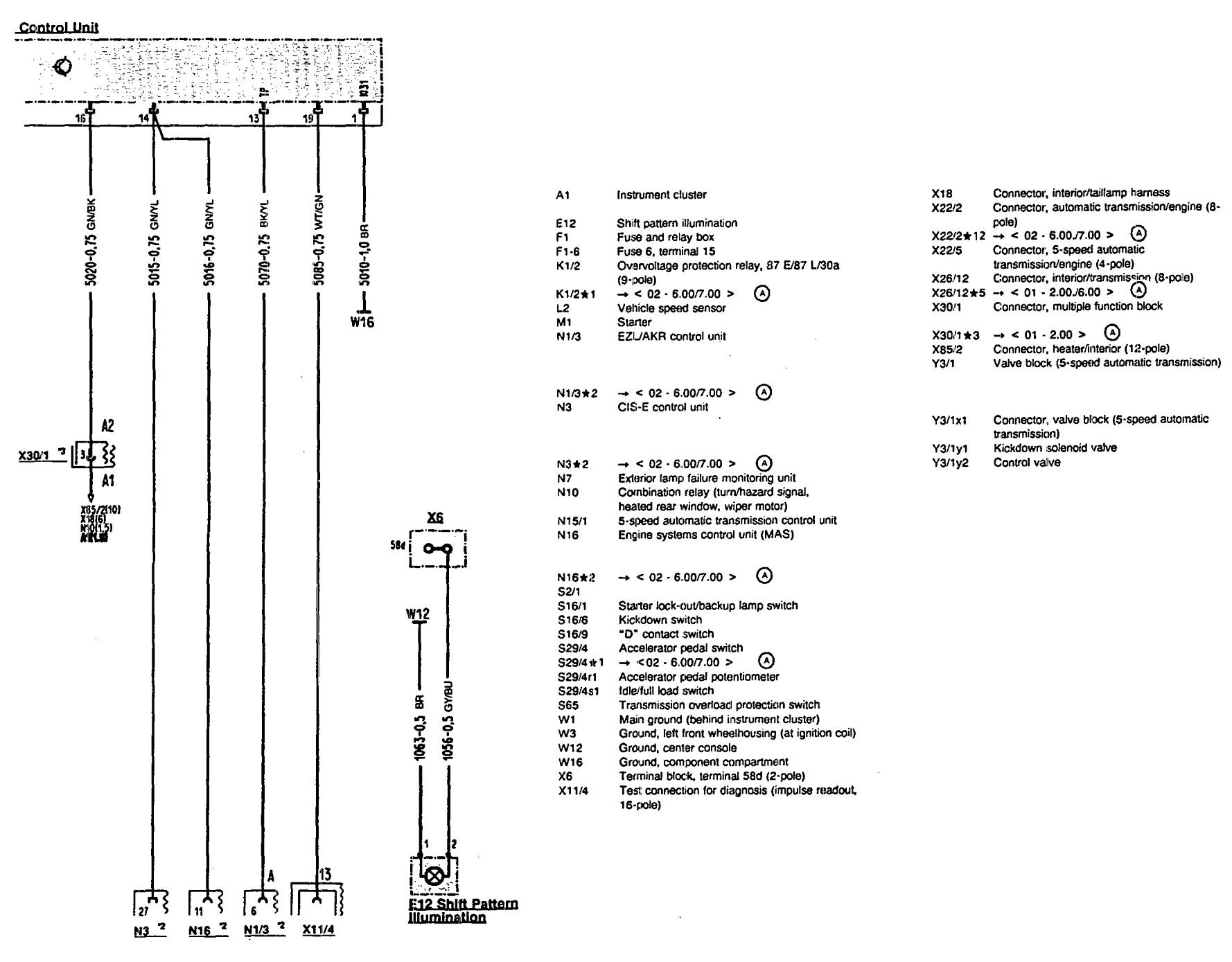 mercedes sl500 wiring diagram workhorse motorhome benz 500sl 1990 1993 diagrams transmission controls part 2