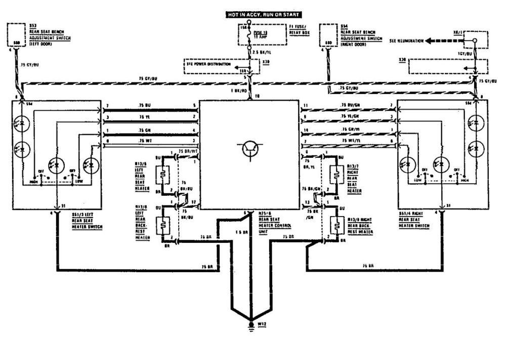 medium resolution of mercedes benz 560sec wiring diagram heated seats