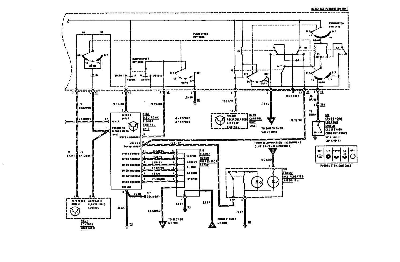 hight resolution of  mercedes benz 560sec wiring diagram hvac controls part 2